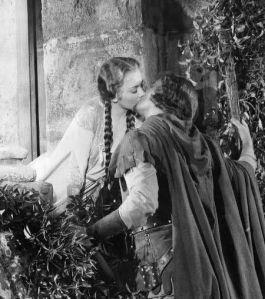 Olivia de Havilland and Errol Flynn in Robin Hood